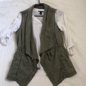 Army green utility vest